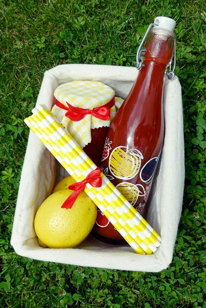 jahodový košíček