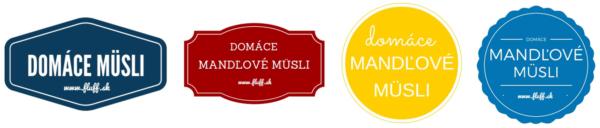 etikety na domace musli